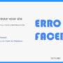 Como resolver o erro do facebook: Não é possível acessar esse site