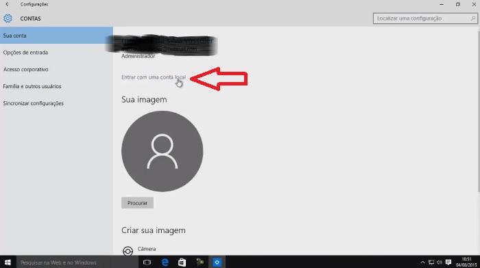 senha microsoft no windows 10 como remover